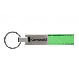 Porte-clés similicuir mat - Spécial Kawasaki