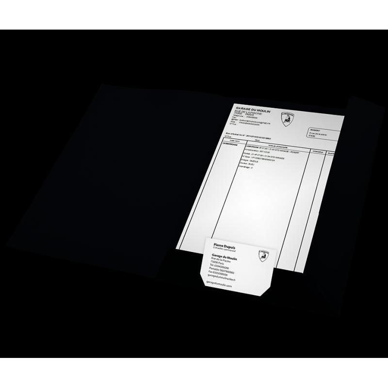 Porte-document noir